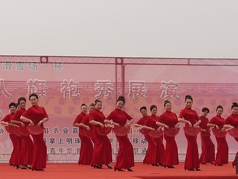 冀南千人旗袍展演亮相嘉年华大本营(组图)