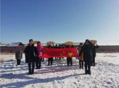 张北县两面井乡中心小学开展首届冰雪艺术节活动