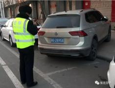 张北交警持续开展违法停车整治行动