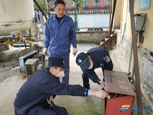 芜湖派出所疫情期间开展服务复工复产安全检查