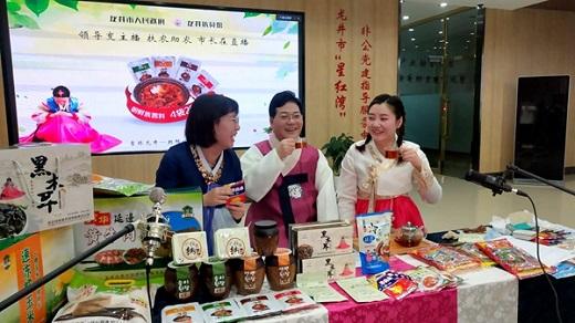 吉林:龙井副市长杨文军走进直播间 助力农产品销售