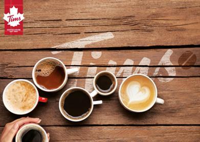"""北美传奇咖啡""""TimHortons"""" 成都首店1月16日落户万象城"""