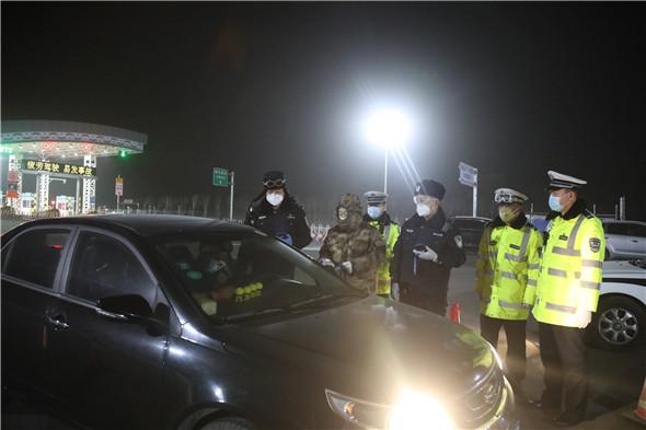 晋中市公安民警日夜奋战在防控疫情最前沿