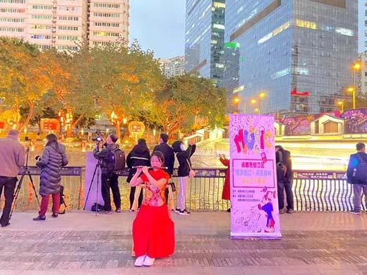 """元宵节,""""夜游锦江·点亮蓉城""""街头艺术展演获点赞"""
