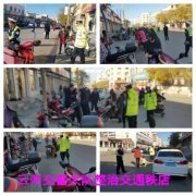云州区交警大队整治交通秩序