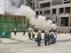 府谷县举行2021年建筑安全事故 应急救援演练
